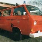 Der alte VW T3 auf dem Hof